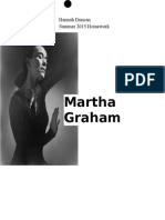 Martha Graham Summer Homework 2015