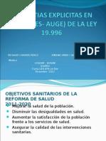 Listas Garantias Explicitas en Salud (Ges- Auge)