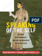 Speaking of the Self edited by Anshu Malhotra and Siobhan Lambert-Hurley
