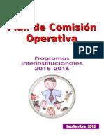 Plan Comisión Operativa Programas Interistitucionales