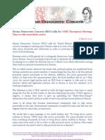 Burma Democratic Concern (BDC) calls for UNSC Emergency Meeting
