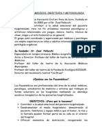 1. Payamedicos. Objetivos y Metodologia