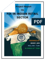 A Project Report on FDI in Indian Retail Sector