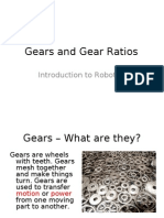 Robotics - Gears and Gear Ratios