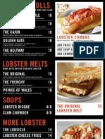 Lobster Me SF Menu