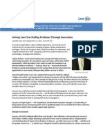 Solving Law Firm Staffing Problems Through Innovation