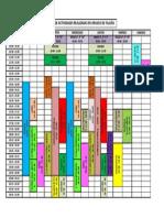 Horarios actividades extraescolares 2015 - 2016