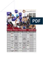 Group Fitness Timetable for Autumn 2010