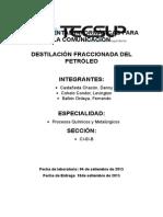 Destilación Fraccionada Del Petróleo 1