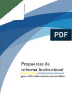 Propuestas de Reforma Institucional