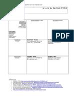 Matriz de Análisis FODA