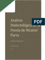 Análisis de la Poesía de Nicanor Parra