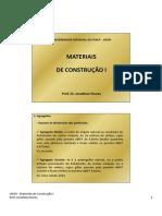 Materiais I - Aula12 - Agregados II