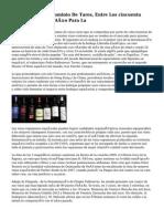 Cepas Viejas, De Dominio De Tares, Entre Los cincuenta Mejores Vinos Del Año Para La