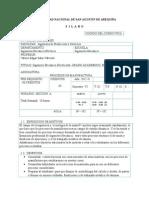 SILABUS procesos 2012