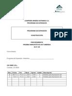 Proc. Prueba Hidrostatica