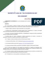 Decreto 6029 de 1 de Fevereiro de 2007