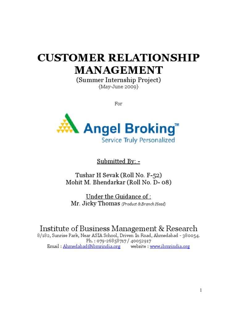 project on customer relationship management with Results 1 - 10 of 55  project report on effectiveness of customer relationship  fmcg industry ( snakes company) project  customer relation manage ment.