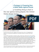 Exclusive the Pentagon is Preparing New War Plans for a Baltic Battle Against Russia
