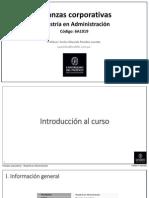 Finanzas Corporativas - MBA Clase 1