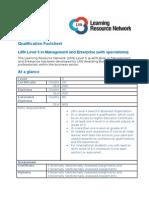 Qualification Factsheet - Business Level 5