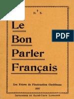 Le Bon Parler Français