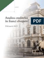 Analiza creditelor in Franci Elvetieni