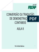 Conversao Das Demonstracoes Contabeis
