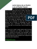 Configuración Básica de Un Switch Cisco en El Packet