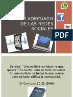 El Uso Adecuado de Las Redes Sociales