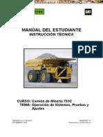 Manual Instruccion Camion Minero 793c Caterpillar Operacion Sistemas Pruebas Ajustes