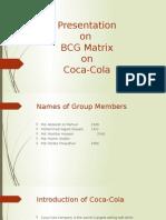 Presentation on BCG Matrix on Coca-Cola