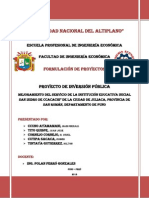 Trabajo FINAL Formulacion de Proyectos de Inversion