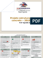 Projeto Estruturas de Concreto Aula 1 - 2015
