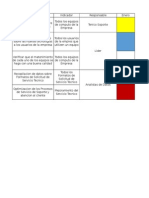 Cronograma Actividades Soporte