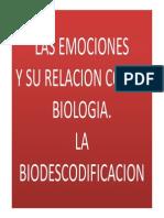 Biodecodificaciòn y su relacion con la biologia