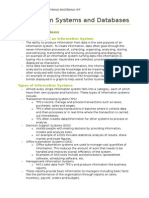 Information Systems and Database Notes