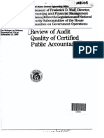 GAO 1985 Audit Quality