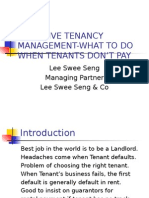 Tenancy Management