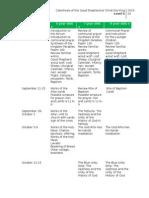 final level ii schedule 2015-16