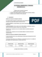 Medida de Potencia Monofasico y Trifasico
