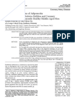 Serum Concentrations of Adiponectin  and Risk of Type 2 Diabetes Mellitus and Coronary Heart Disease in Apparently Healthy Middle-Aged Men