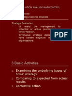 Strategy Evaluation, Analysis and Control-8