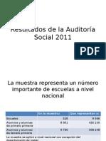 Resultados de La Auditoría Social 2011