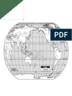 Mapa Mundi visto desde el Océano Pacífico