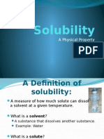 Solubility of Salt, Sugar and Baking Soda