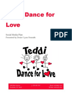 Teddi Dance for Love Social Media Plan