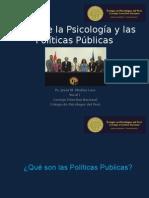 El Rol de La Psicología y Las Políticas