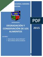 Degradación y Conservación de Los Alimentos