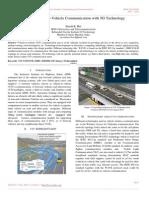Smart Vehicle- To-Vehicle Communication With 5G Technology
